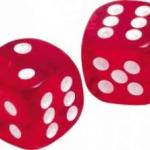 Dobbelstenen en tafels oefenen