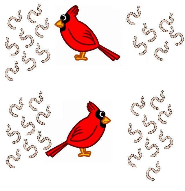 Meer en minder met het vogeltje afbeeldingen