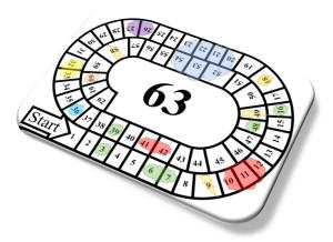 Tafel ganzenbord spelen