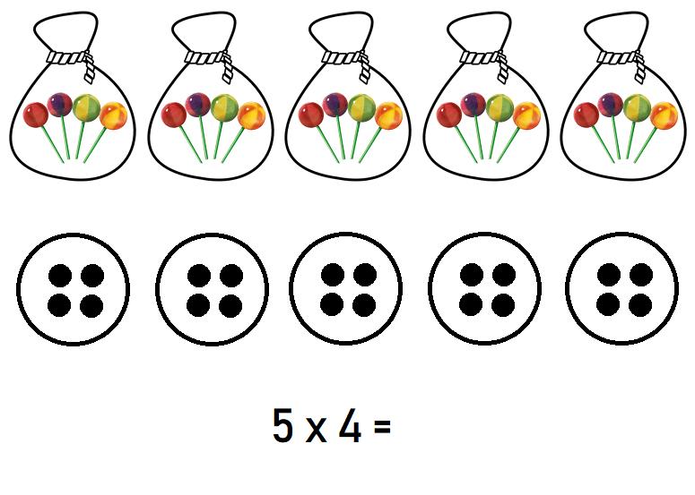 5 x 4 snoepjes