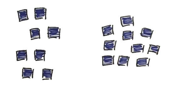 Groeperen van fiches